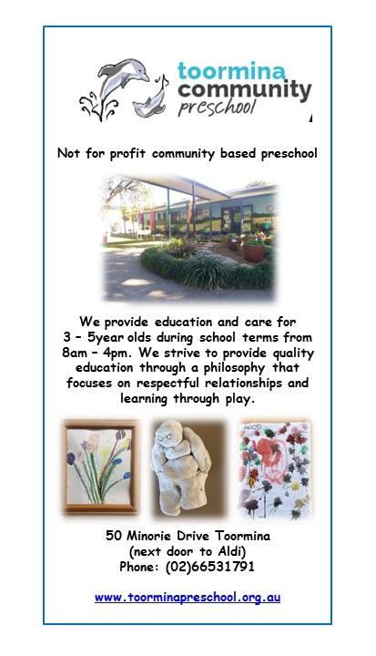 toormina preschool flyer