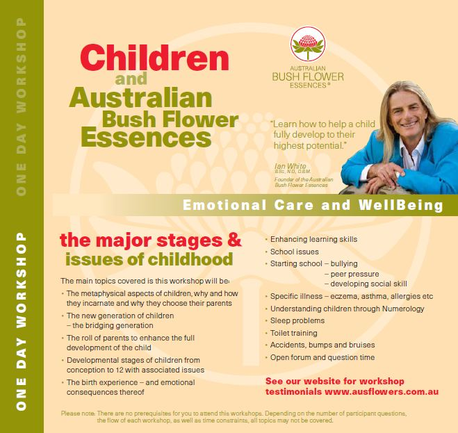 Australian bush flower essences one day workshops coffsforkids save 65 for detailed brochures and to reserve your place phone clare at baliena flower therapies on 6644 9869 or visit flowertherapies mightylinksfo