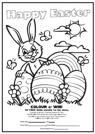 Easter Colouring in Competition :: coffsforkids.com