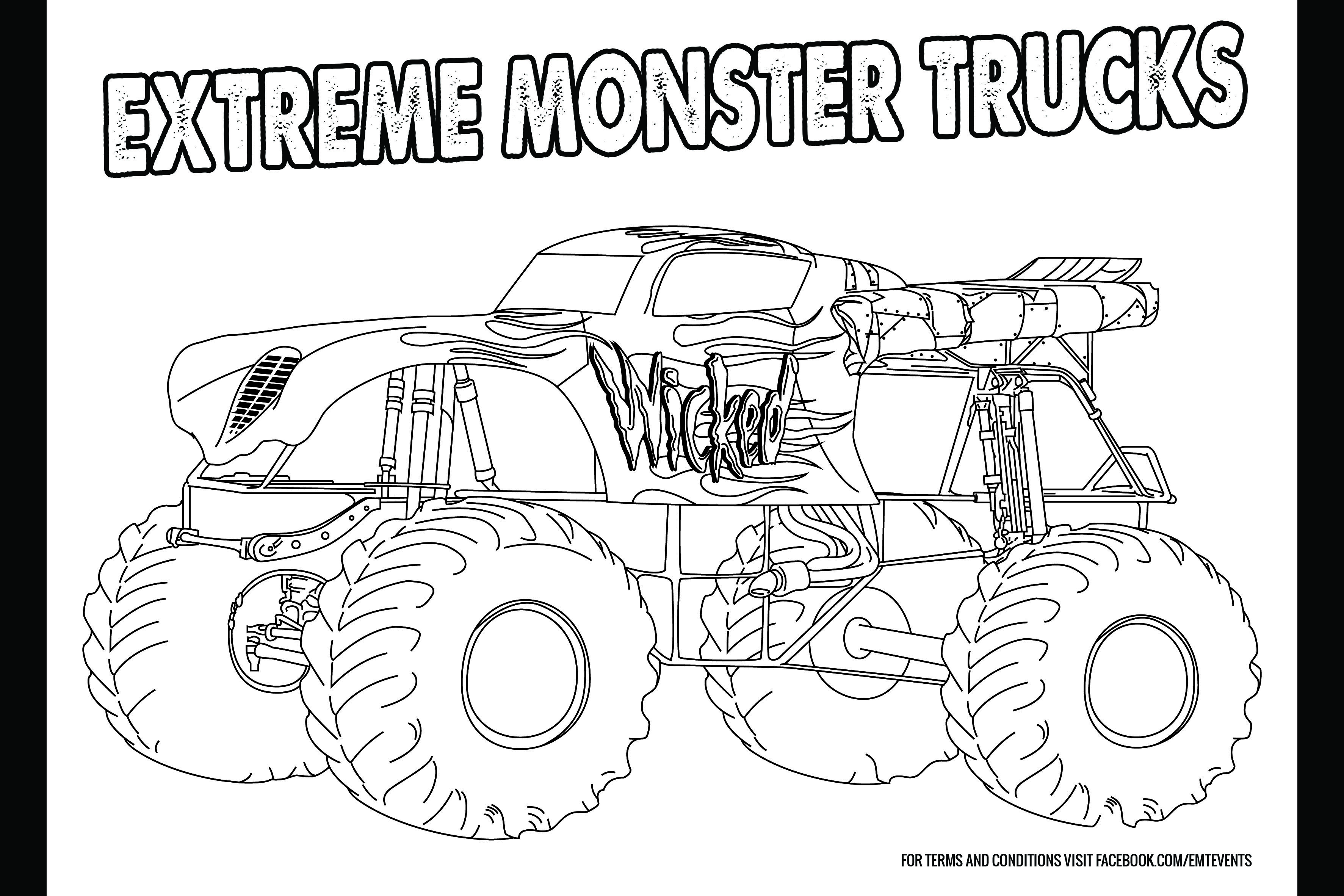 Monster Truck Colouring in Competition  coffsforkidscom