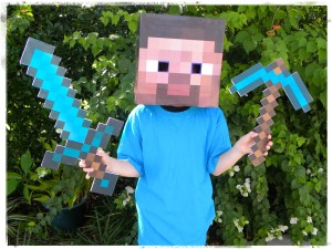 Technically there are books on Minecraft so here are instructions on how to make a Steve minecraft costume for under $10. & Book Week Costumes :: coffsforkids.com