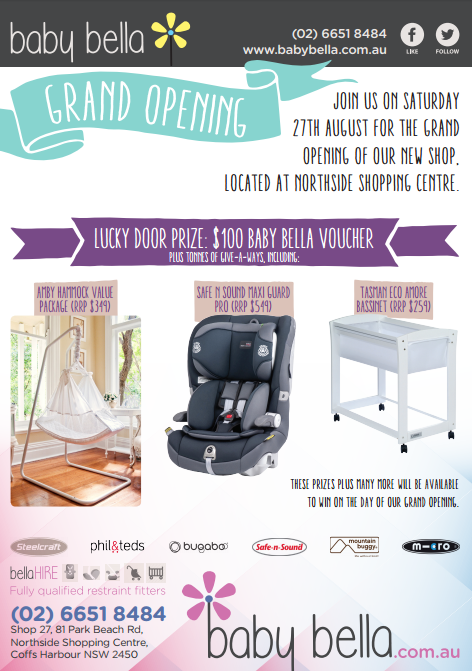 baby bella grand opening