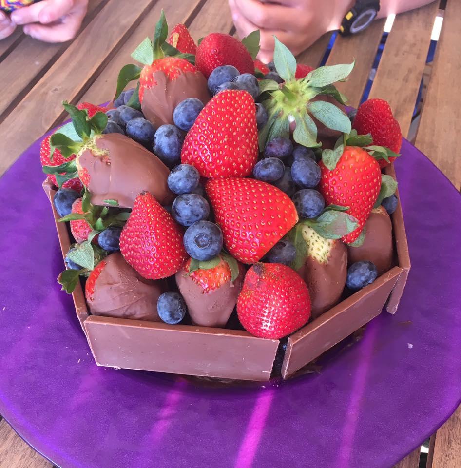 11th birthday choc fruit mud cake