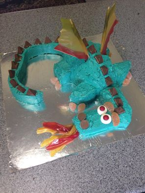 9th Birthday Dragon Cake
